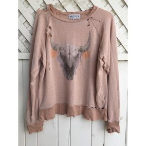 Wildfox Distressed Sweater